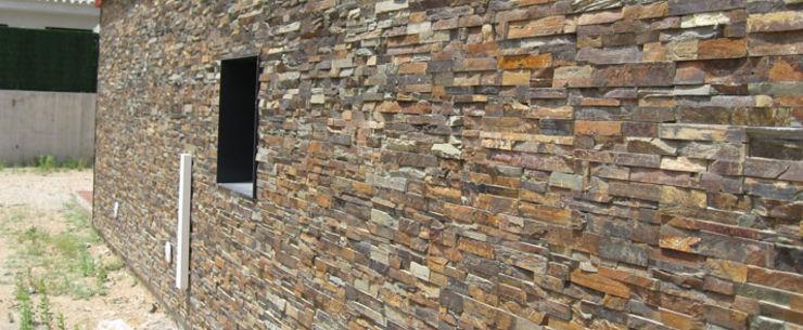Panel de piedra natural en pizarra multicolor piedra - Panel piedra precio ...
